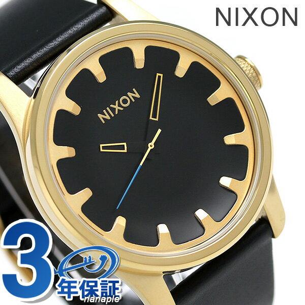 ニクソン 腕時計 メンズ nixon A981513 ドライバー レザー クオーツ ゴールド/ブラック 時計