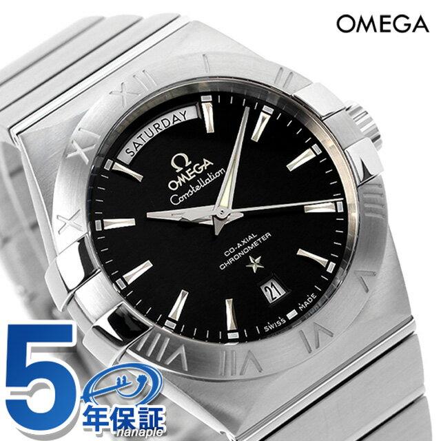 オメガ クロノメーター コーアクシャル 腕時計 123.10.38.22.01.001 OMEGA コンステレーション 38MM ブラック 新品 時計