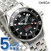 奥米伽海主人潛水員300M石英手錶212.30.28.61.01.001 OMEGA黑色