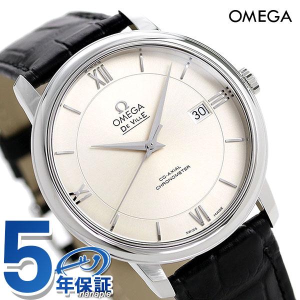 オメガ デビル プレステージ 39.5MM 自動巻き メンズ 424.13.40.20.02.001 OMEGA 腕時計 ブラック 新品 時計