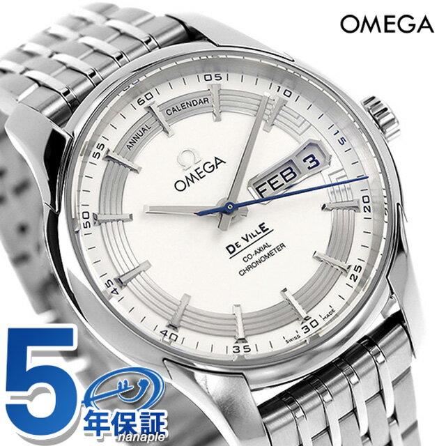 オメガ デビル アニュアル カレンダー 41MM 腕時計 431.30.41.22.02.001 OMEGA シルバー 新品 時計