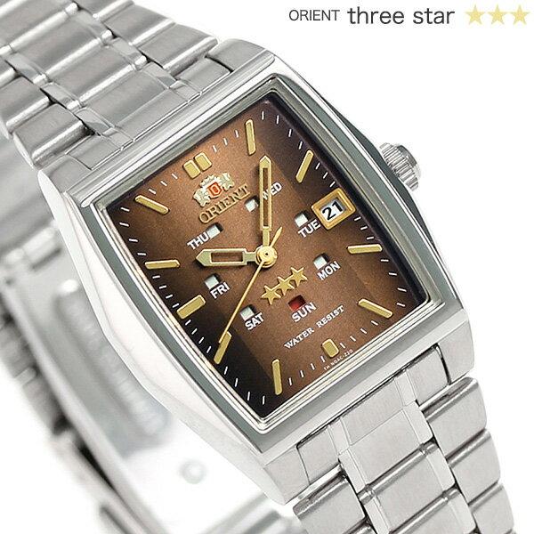 オリエント 逆輸入 海外モデル スリースター 自動巻き URL035NQ ORIENT 腕時計 ブラウン 時計