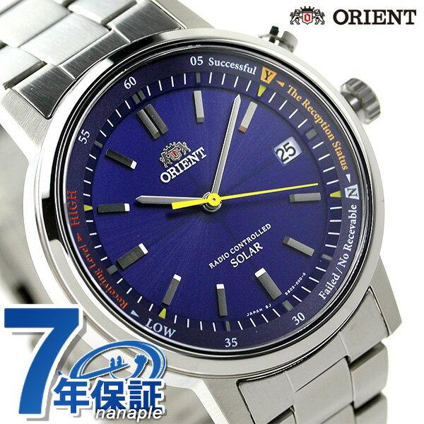 【当店なら!さらにポイント+4倍!21日1時59分まで】 オリエント 腕時計 メンズ ORIENT スタイリッシュ&スマート 電波ソーラー WV0111SE ブルー 時計【あす楽対応】