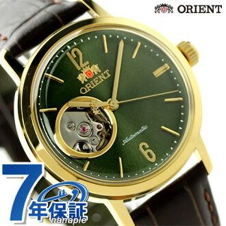 Oriental stylish & smart made in Japan WV0451DB ORIENT watch rough green / dark brown
