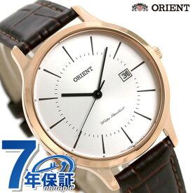 【20日はさらに+9倍で店内ポイント最大42倍】 オリエント コンテンポラリー メンズ 腕時計 RH-QD0001S ORIENT 時計 ホワイト×ダークブラウン【あす楽対応】