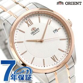 【25日はさらに+4倍でポイント最大27倍】 オリエント コンテンポラリー 自動巻き 日本製 メンズ 腕時計 RN-AC0012S ORIENT ホワイト×ピンクゴールド【あす楽対応】