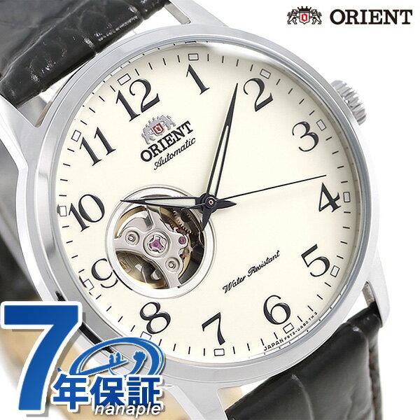 オリエント 腕時計 メンズ ORIENT オープンハート 日本製 自動巻き RN-AG0009S 革ベルト【あす楽対応】