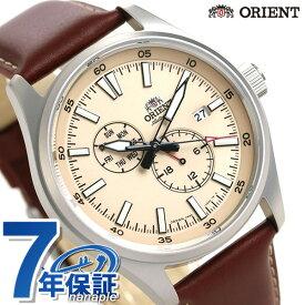 オリエント 自動巻き メンズ 腕時計 RN-AK0405Y ORIENT 時計 機械式 ベージュ×ブラウン【あす楽対応】