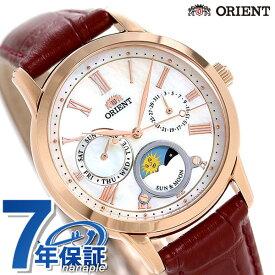 【20日はさらに+9倍で店内ポイント最大42倍】 オリエント 腕時計 ORIENT クラシック サン&ムーン 35mm 革ベルト RN-KA0001A【あす楽対応】