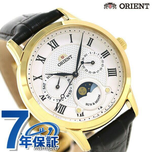 オリエント 腕時計 ORIENT クラシック サン&ムーン 35mm 革ベルト RN-KA0002S【あす楽対応】