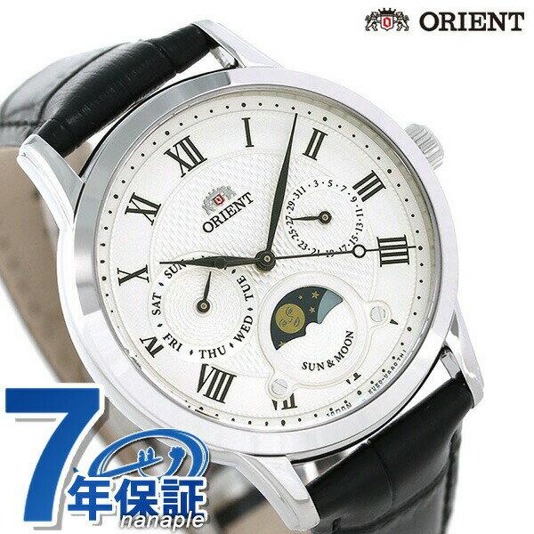 オリエント 腕時計 ORIENT クラシック サン&ムーン 35mm 革ベルト RN-KA0003S【あす楽対応】