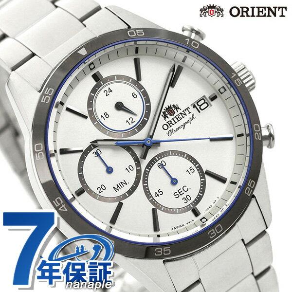 オリエント 腕時計 メンズ ORIENT 日本製 コンテンポラリー クロノグラフ RN-KU0001S ホワイト 時計【あす楽対応】