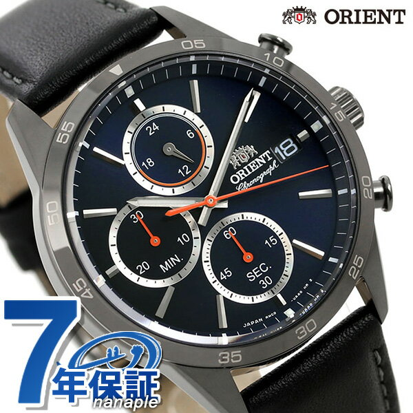 オリエント 腕時計 メンズ ORIENT 日本製 コンテンポラリー クロノグラフ RN-KU0003L 革ベルト 時計【あす楽対応】