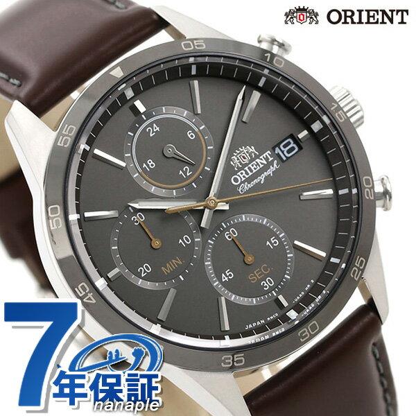 オリエント 腕時計 メンズ ORIENT 日本製 コンテンポラリー クロノグラフ RN-KU0004N 革ベルト 時計【あす楽対応】