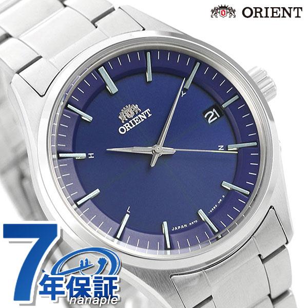 オリエント 腕時計 メンズ ORIENT 日本製 電波ソーラー コンテンポラリー カレンダー RN-SE0003L ネイビー 時計【あす楽対応】