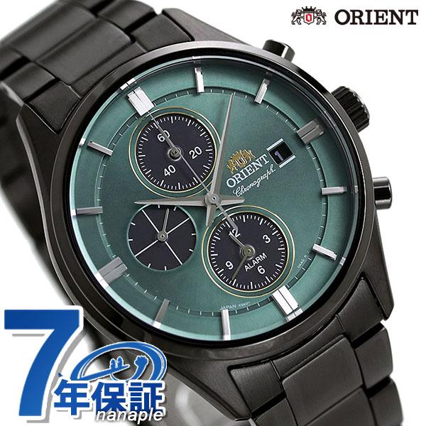 【当店なら!さらにポイント+4倍!21日1時59分まで】 オリエント 腕時計 ORIENT コンテンポラリー クロノグラフ ソーラー RN-TY0001E メンズ グリーン×ブラック 時計【あす楽対応】