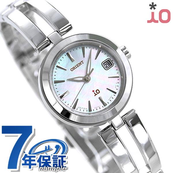 オリエント 腕時計 ORIENT イオ ナチュラル&プレーン 24mm ソーラー RN-WG0001S ホワイトシェル 時計【あす楽対応】