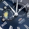 오리엔트워르드스테이지코레크션산&문 WV0391ET ORIENT 손목시계 네이비