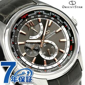 오리엔트 스타 월드 타임 자동감김 맨즈 손목시계 WZ0091JC Orient Star 그레이