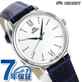 オリエント クラシック レディース 腕時計 日本製 クオーツ RN-QC1705S ORIENT ホワイト×ネイビー 革ベルト
