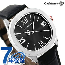 【20日はさらに+4倍でポイント最大27倍】 オロビアンコ 時計 オッタンゴラ 38mm メンズ Orobianco OR0078-3 ブラック 腕時計【あす楽対応】