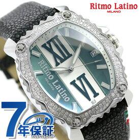 リトモラティーノ クアトロ オート ダイヤモンド クラシコ 43mm 自動巻き メンズ 腕時計 QA-91GAD Ritmo Latino グリーン×ブラック