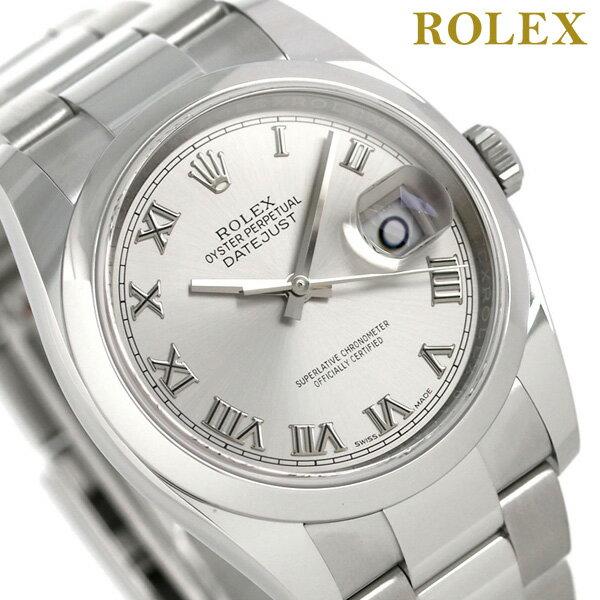 ロレックス デイトジャスト メンズ ROLEX 36 自動巻き 腕時計 116200 新品 グレーシルバー 時計【あす楽対応】