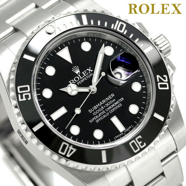 【エントリーでさらに3000ポイント!26日1時59分まで】 ロレックス サブマリーナ デイト 40 メンズ 腕時計 ROLEX 116610LN ブラック 新品 時計【あす楽対応】