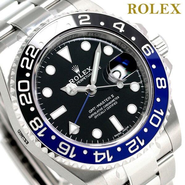ロレックス GMTマスター2 メンズ ROLEX 40 自動巻き 116710BLNR 腕時計 新品【あす楽対応】