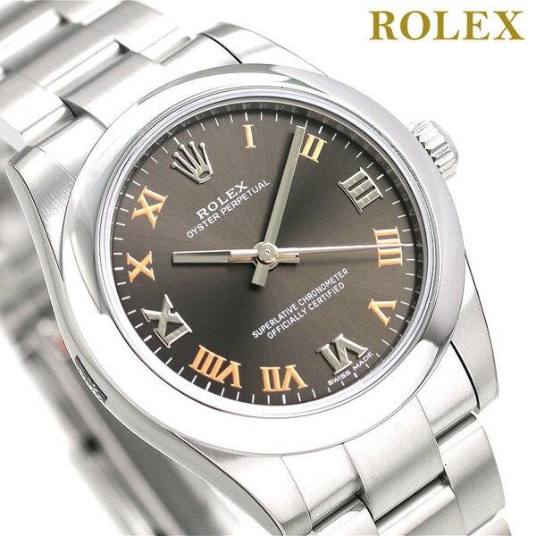ロレックス オイスター パーペチュアル 31 自動巻き レディース 腕時計 177200 ROLEX ダークグレー 新品 時計【あす楽対応】
