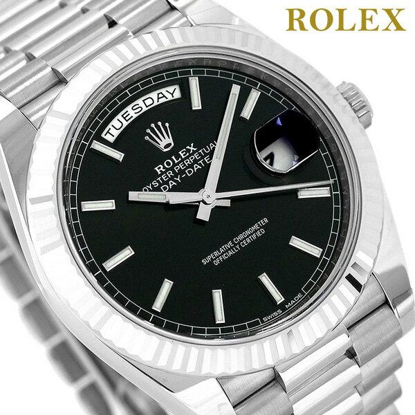 ロレックス デイデイト メンズ ROLEX 40 自動巻き 腕時計 228239 新品 ブラック 時計【あす楽対応】
