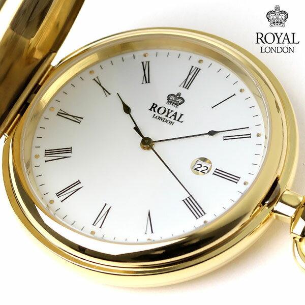 ロイヤルロンドン 懐中時計 クオーツ 90001-02 ROYAL LONDON ポケットウォッチ 時計