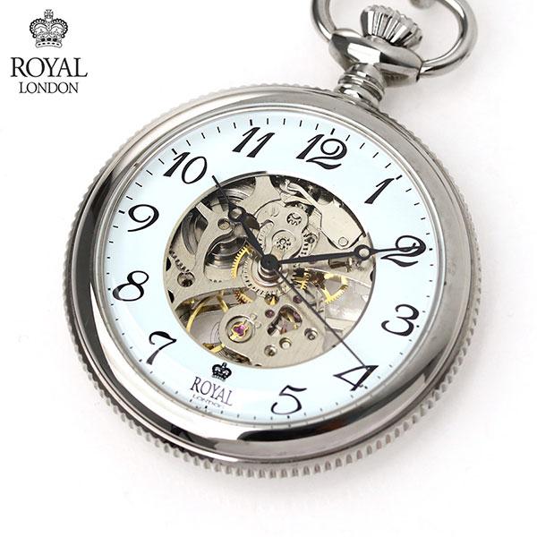 ロイヤルロンドン 懐中時計 オープンハート 手巻き 90002-01 ROYAL LONDON ポケットウォッチ 時計