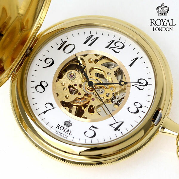 ロイヤルロンドン 懐中時計 オープンハート 手巻き 90004-01 ROYAL LONDON ポケットウォッチ 時計