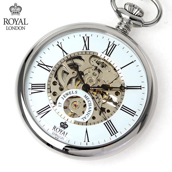ロイヤルロンドン 懐中時計 オープンハート 手巻き 90049-01 ROYAL LONDON ポケットウォッチ 時計【あす楽対応】