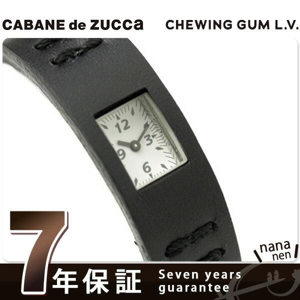 【7月下旬入荷予定 予約受付中♪】ズッカ CABANE de ZUCCa カバン ド ズッカ 腕時計 チューイングガム レザーバージョン AWGK019 ブラック 時計