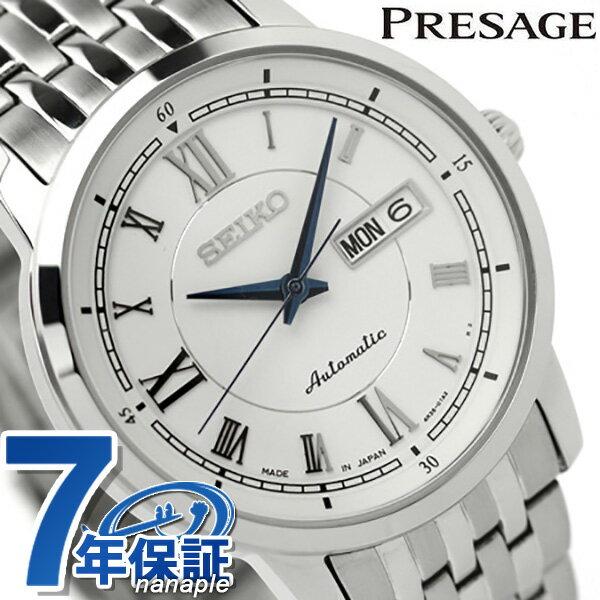 【クオカード付き♪】セイコー プレザージュ メカニカル メンズ 機械式 腕時計 SARY025 SEIKO PRESAGE Mechanical ホワイト 時計【あす楽対応】