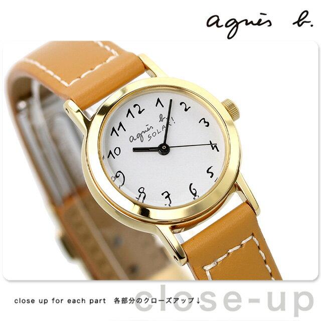 【当店なら!さらにポイント+4倍!21日1時59分まで】 アニエスベー 時計 agnes b. アニエスb レディース ソーラー アラビア キャメル FBSD980 アニエス・ベー 腕時計【あす楽対応】
