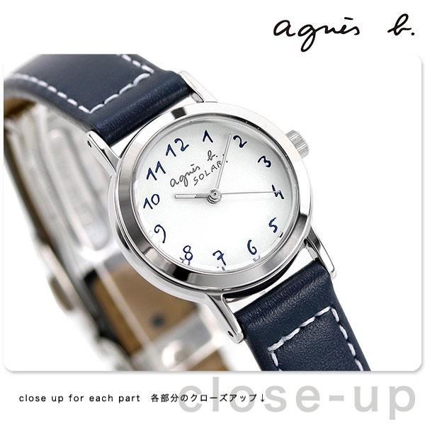 【当店なら!さらにポイント+4倍!21日1時59分まで】 アニエスベー 時計 agnes b. アニエスb レディース ソーラー アラビア ネイビー FBSD981 アニエス・ベー 腕時計【あす楽対応】