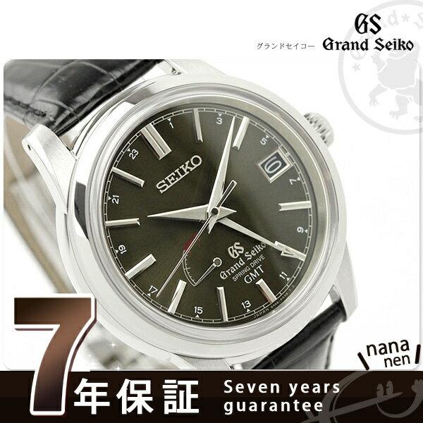 SBGE027 グランド セイコー スプリングドライブ メンズ 腕時計 GRAND SEIKO ブラック レザーベルト