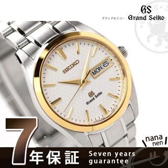 SBGT038 ground SEIKO quartz watch GRAND SEIKO 18K yellow gold bezel white