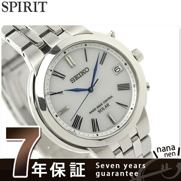 【エントリーだけでポイント7倍 27日9:59まで】 セイコーセレクション 電波ソーラー メンズ 腕時計 SBTM183 SEIKO ホワイト 時計