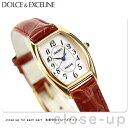 セイコー エクセリーヌ クオーツ トノー型 レディース SWDB062 SEIKO DOLCE&EXCELINE 腕時計 ホワイト×ブラウン レ…