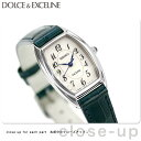 セイコー ドルチェ&エクセリーヌ トノー型 レディース SWDB063 SEIKO DOLCE&EXCELINE 腕時計 ホワイト×ネイビー 革…