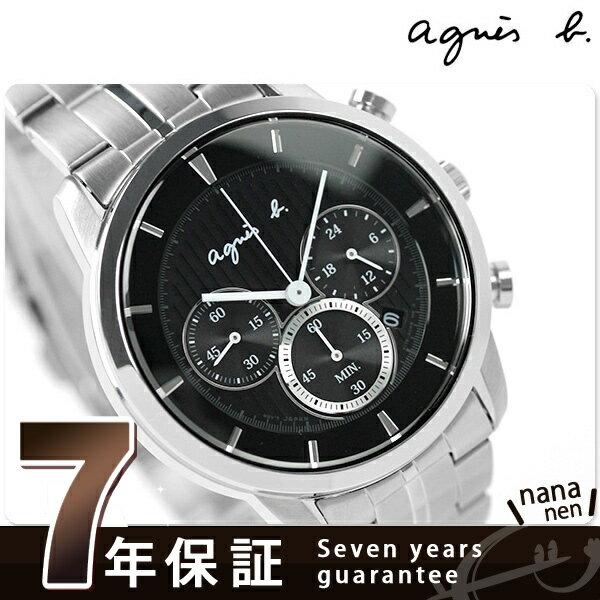 アニエスベー 時計 メンズ ソーラー クロノグラフ ブラック agnes b. FBRD982 アニエス・ベー 腕時計【あす楽対応】
