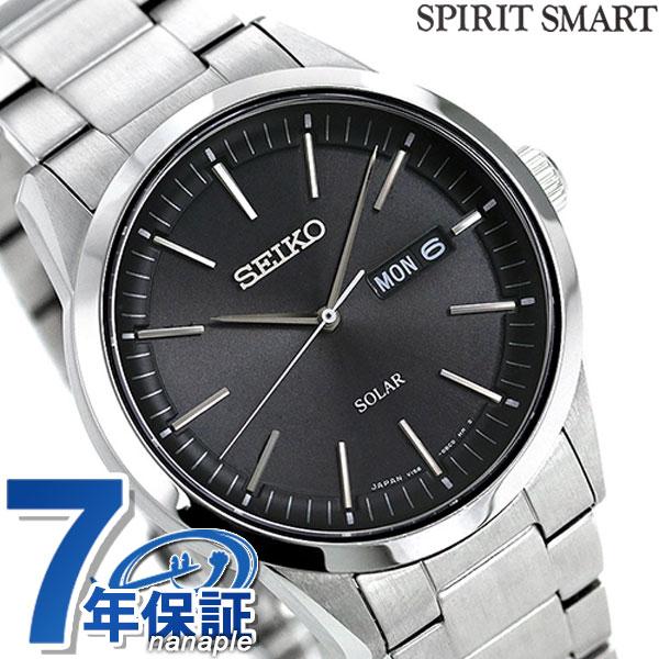 セイコーセレクション ソーラー メンズ 腕時計 SBPX063 SEIKO ブラック 時計