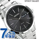 セイコー ソーラー スピリットスマート メンズ 腕時計 SBPX063 SEIKO SPIRIT SMART ブラック【あす楽対応】