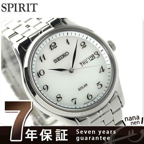 セイコー スピリット ソーラー メンズ SBPX067 SEIKO SPIRIT 腕時計 ホワイト 時計