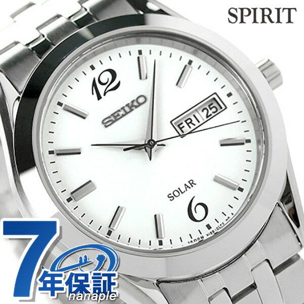 セイコー スピリット ソーラー メンズ SBPX079 SEIKO SPIRIT 腕時計 ホワイト 時計【あす楽対応】