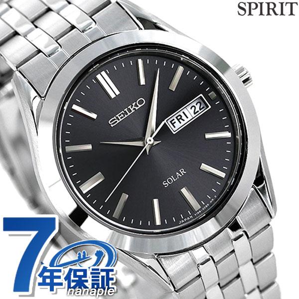 セイコー スピリット ソーラー メンズ SBPX083 SEIKO SPIRIT 腕時計 ブラック 時計【あす楽対応】